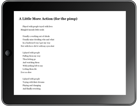 Kindle on iPad simulation